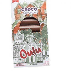 maitosuklaa suklaalevy käsintehty oulu toripoliisi toripolliisi oulu lahja tuliainen oulu chocosomnia