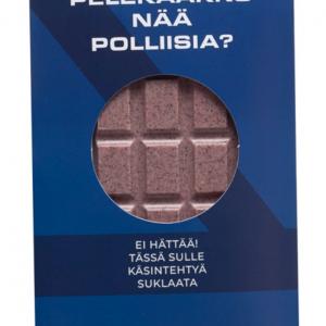 Käsintehty suklaa oulu valkosuklaa mustikka poliisi chocosomnia